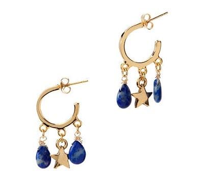 Lapis Lazuli Star Earrings