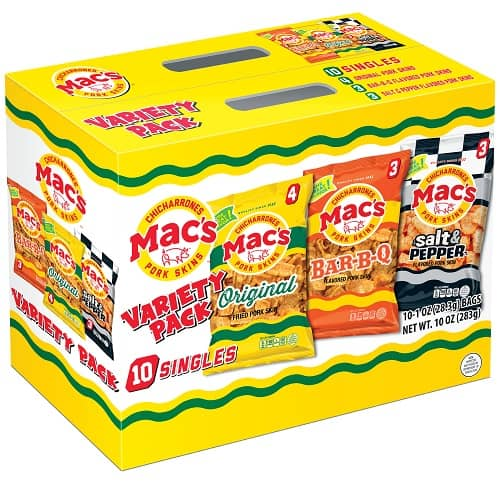 Mac's Pork Rind Snacks Variety Pack - 10 Pack - Keto Snacks