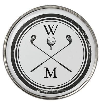 Monogrammed Golf Ball Marker