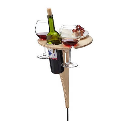 Outdoor Wine Table - Wine Lovers Gift Ideas