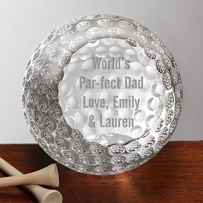 Personalized Crystal Golf Ball For Dad