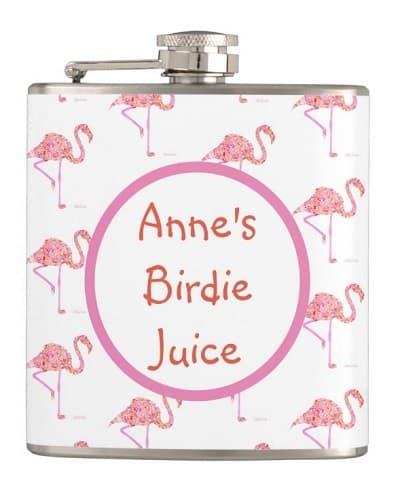 Personalized Flamingo Golf Flask