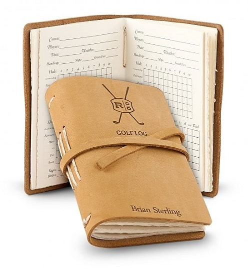 Personalized Leather Bound Golf Log