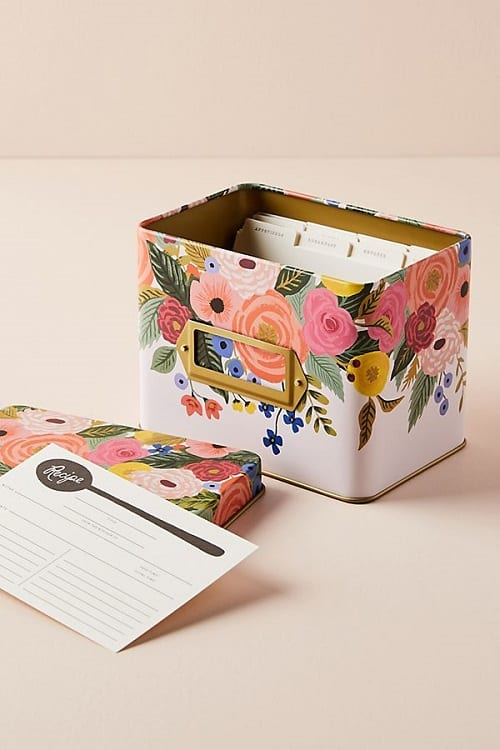 Pretty Floral Recipe Tin