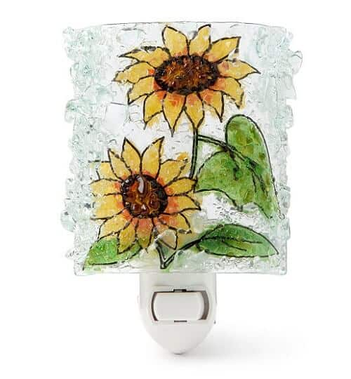 Recycled Glass Sunflower Night Light