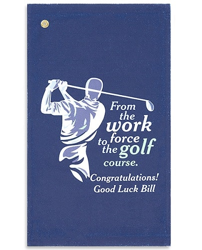 Retirement Personalized Golf Towel