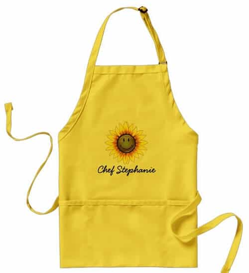 Sun-kissed Smiling Sunflower Apron