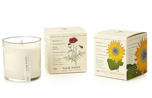 Sunflower Floral Candle