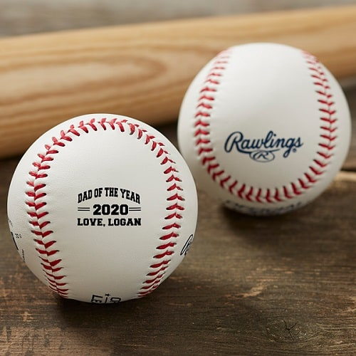 Dad of the Year Personalized Rawlings Baseball