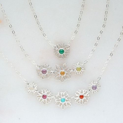 Family Flower Garden Necklace
