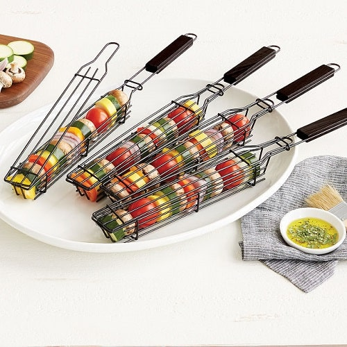 Kabob Grilling Baskets - Grilling Gift for Dad Under $25