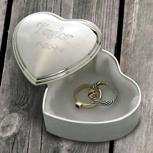 Personalized Engraved Heart Keepsake Box