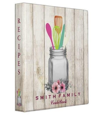 Personalized Mom's Family Recipe Cookbook