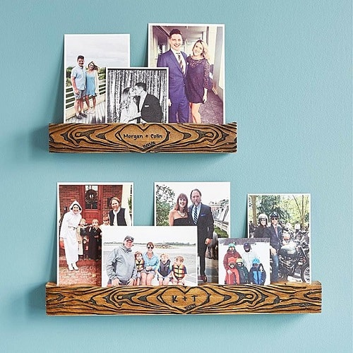 Personalized Tree of Love Photo Ledge