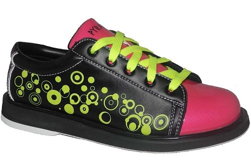 Pyramid Youth Rain Black-Hot Pink-Lime Green Bowling Shoes