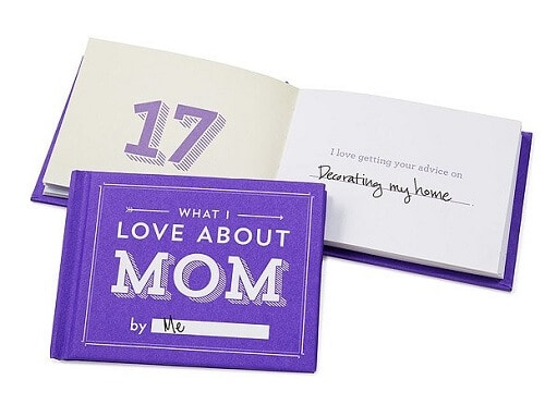 What I Love About Mom By Me Book