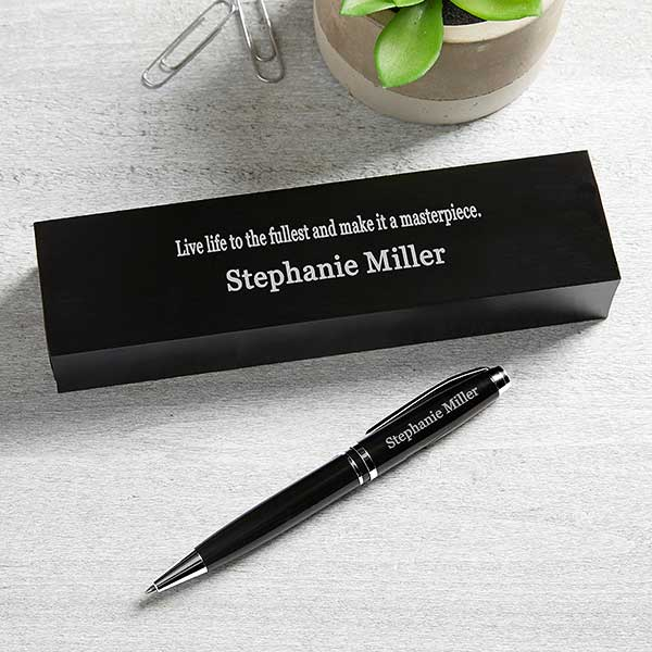 10 Quotes Personalized Aluminum Pen Set