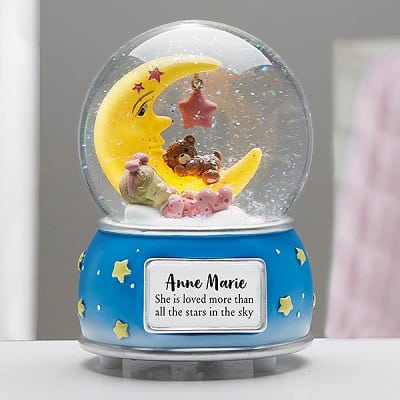 Baby Girl Personalized Musical & Light Up Snow Globe