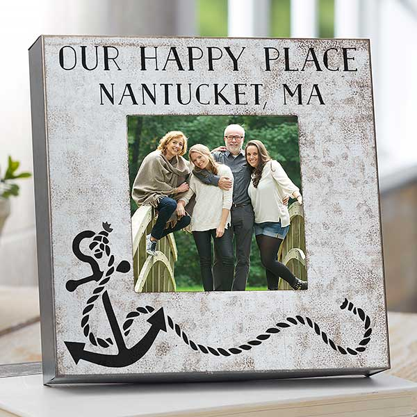 Beach Life Personalized Galvanized Metal Picture Frame