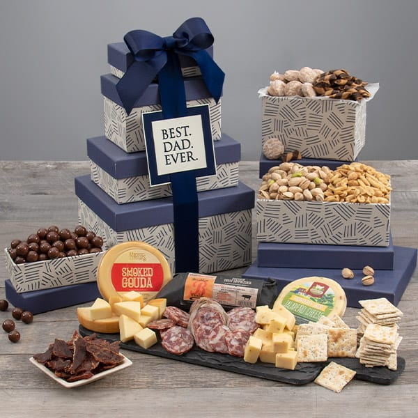 Best Dad Ever Gift Tower - Food Gifts for Dad