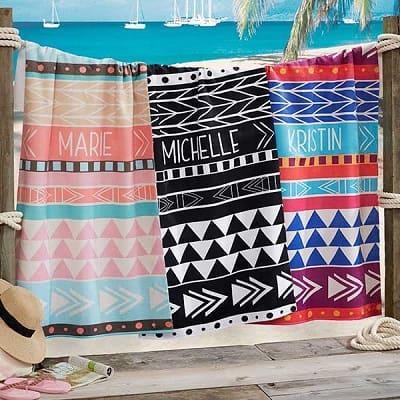 Bohemian Chic Personalized 35x72 Beach Towel