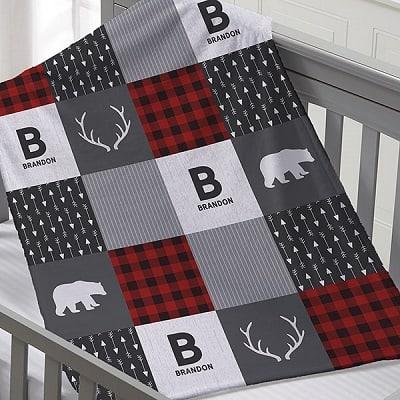 Buffalo Plaid Personalized Baby Blanket