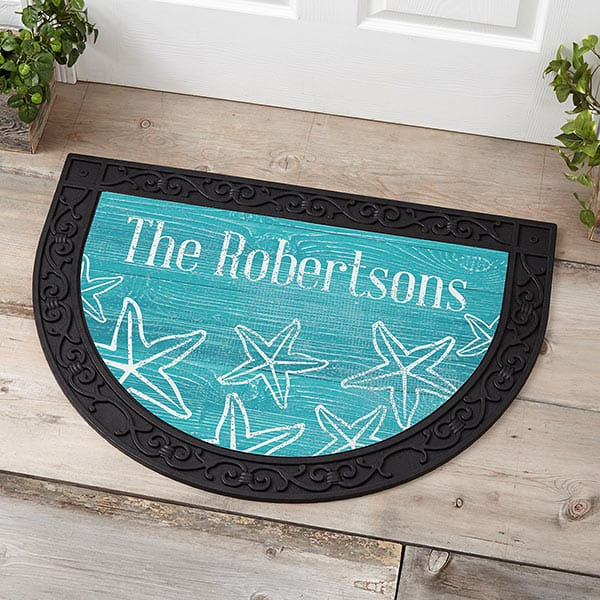Coastal Home Personalized Half Round Doormat