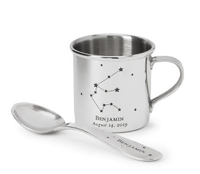 Constellation Spoon and Cup - Engraved Baby Boy Gifts
