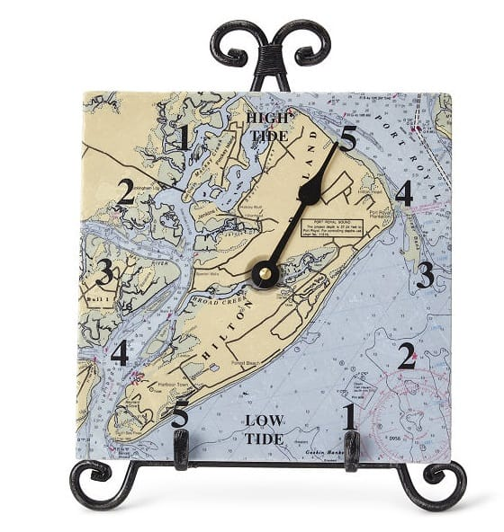 Custom Map Tide Clock - Unique Gifts for Dads