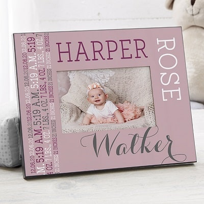 Darling Baby Girl Personalized Picture Frame