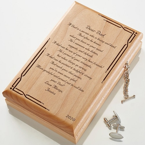 Dear Dad Poem Personalized Valet Box