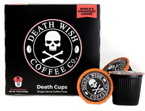 Death Wish Single Serve Strong Coffee Pods