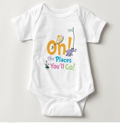 Dr. Seuss Oh, The Places You'll Go! Baby Bodysuit
