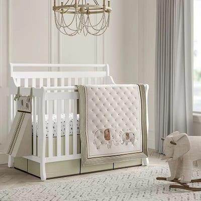Elephant 4 Piece Crib Bedding Set