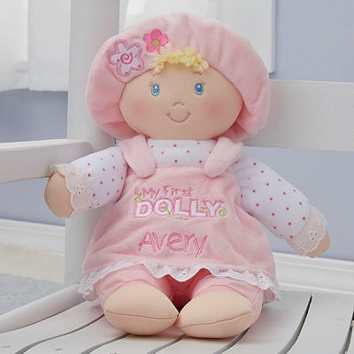 Embroidered My First Baby Doll by Baby Gund