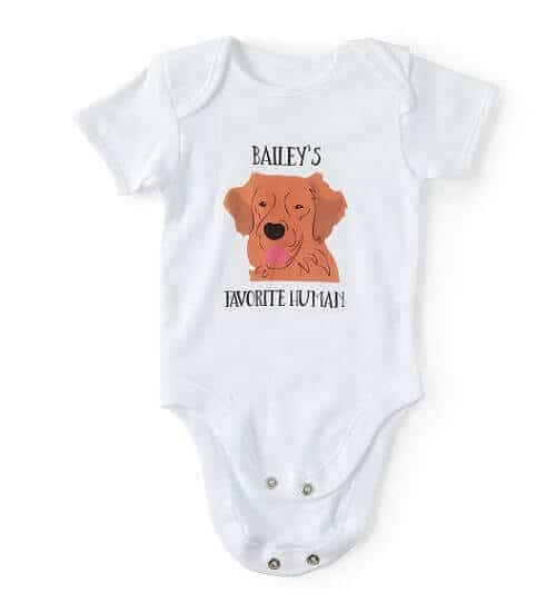 Favorite Human Dog Lover Babysuit - Personalized Baby Gifts