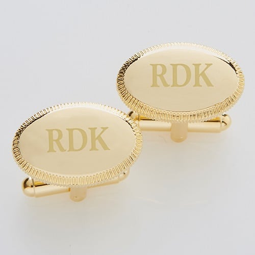 Gold Engraved Cuffinks