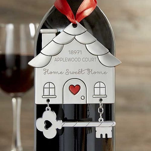 Happy New Home Customized Ornament Wine Tag
