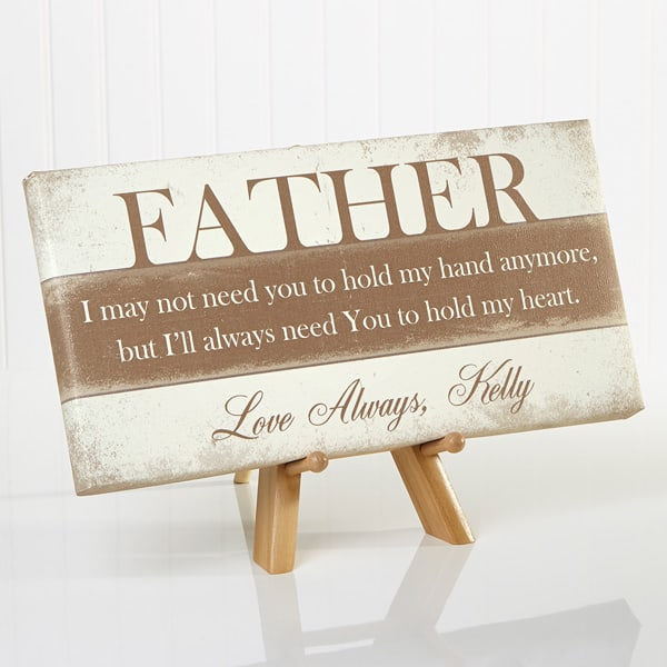 His Words Of Wisdom Personalized Canvas Print