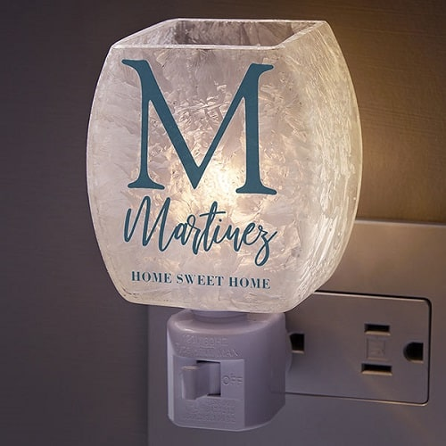 Initial Personalized Frosted Night Light