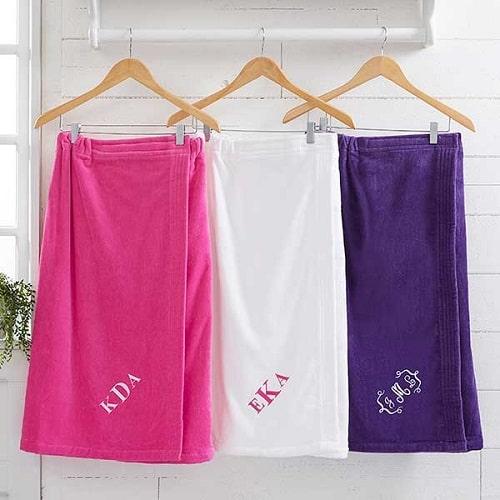 Ladies Embroidered Towel Wrap