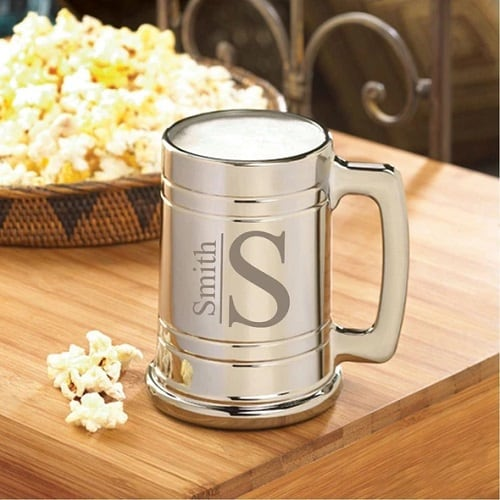 Monogram Gunmetal Beer Mug