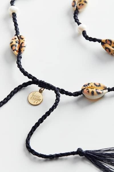 Moonlight Beach Leopard Shell Necklace