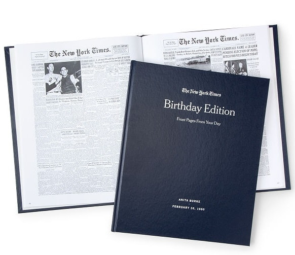 New York Times Custom Birthday Book - Unique Gifts for Dad Under $100Birthday Book - Unique Gifts fpr Dad Under $100