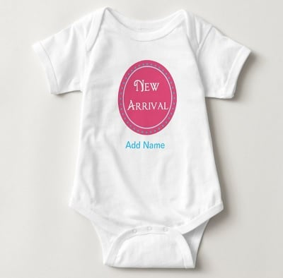 Personalized Baby Body Suit