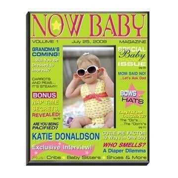 Personalized Baby Girl Magazine Frame