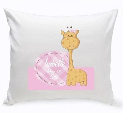 Personalized Baby Nursery Giraffe Throw Pillow