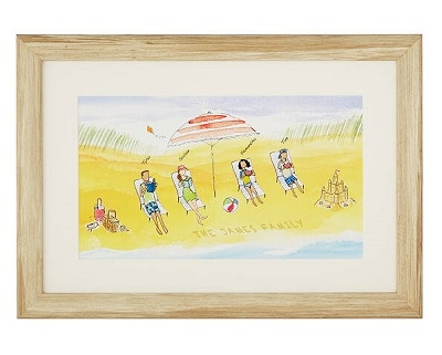 Personalized Beach Family Art - Gifts for Beach Lovers