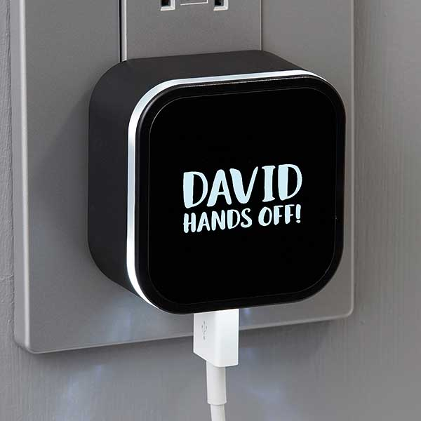 Personalized LED Triple Port USB Charger
