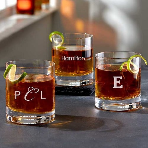 Personalized Old Fashioned Whiskey Glasses